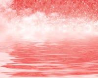 Reflexion som är röd i drömmar Arkivbild