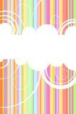 bakgrundsregnbåge Arkivbild