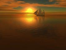 bakgrundsship Royaltyfri Foto