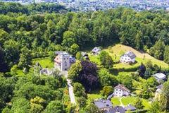 Bakgrundssikt av Salzburg uppifrån Royaltyfri Bild