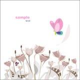 bakgrundsskönhetblomma Royaltyfria Bilder
