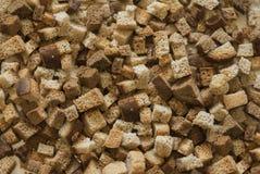 Bakgrundsskivor av bröd Arkivfoto