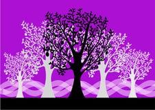 bakgrundsskog vektor illustrationer