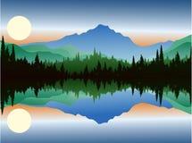 bakgrundsskogen sörjer Stock Illustrationer