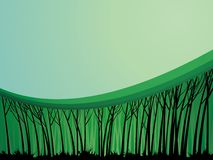 bakgrundsskogtema royaltyfri illustrationer
