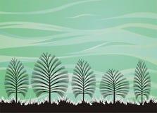 bakgrundsskogtema stock illustrationer