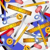 bakgrundsskolatillförsel royaltyfri illustrationer