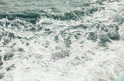 Bakgrundsskott av yttersida för aquahavsvatten Royaltyfri Fotografi