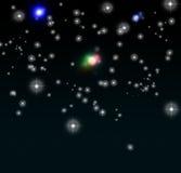 bakgrundsskystjärnor Royaltyfria Bilder