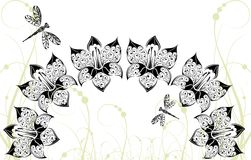 bakgrundssländan blommar grafiskt Royaltyfria Bilder