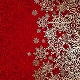 Bakgrundssnöflingor för glad jul Arkivfoton