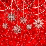 Bakgrundssnöflingor för glad jul Arkivbilder