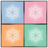 bakgrundssnowflake vektor illustrationer