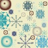 bakgrundssnowflakes vektor illustrationer