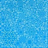 bakgrundssnowflakes Fotografering för Bildbyråer