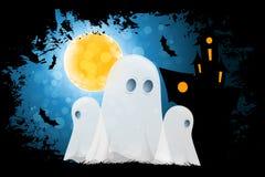 bakgrundstecken halloween som isoleras över affischen Royaltyfri Foto