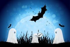bakgrundstecken halloween som isoleras över affischen Royaltyfri Bild