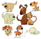 bakgrundstecknad filmdesignen dogs illustrationen Royaltyfria Bilder