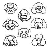 bakgrundstecknad filmdesignen dogs illustrationen Royaltyfria Foton