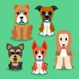 bakgrundstecknad filmdesignen dogs illustrationen Royaltyfri Foto