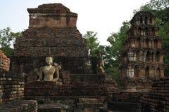 bakgrundstegelstenbuddha sten Royaltyfri Bild