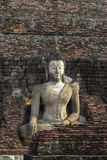 bakgrundstegelstenbuddha sten Arkivfoto
