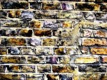 bakgrundstegelstenvägg Royaltyfri Fotografi