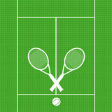 Bakgrundstennisracket med bollen undertecknar vect för symbolssportsymbolet Arkivfoton