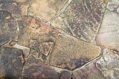 Bakgrundstextur av den gamla stenen, väggsten Arkivbild