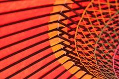 Bakgrundstextur av den japanska röda slags solskydd Arkivbilder