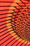 Bakgrundstextur av den japanska röda slags solskydd Royaltyfri Bild