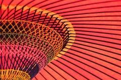 Bakgrundstextur av den japanska slags solskydd kallade Higasa Arkivbild