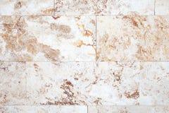 Bakgrundstextur av den vita stenväggen Royaltyfri Fotografi