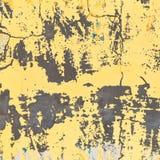 Bakgrundstextur av en guling färgade den gamla väggen Weathered ytbehandlar Fotografering för Bildbyråer