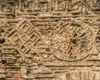 Bakgrundstextur av fördärvar av forntida Constantinople Arkivbild