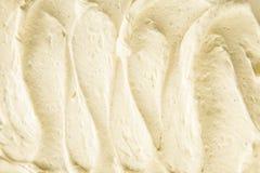 Bakgrundstextur av krämig vaniljglass Royaltyfri Fotografi