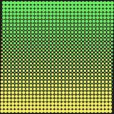 Bakgrundstextur av punkterna med en lutninggräsplan och gult på svart Stilfull vektorillustration för rengöringsdukdesign vektor illustrationer