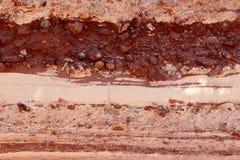 Bakgrundstextur av röd sandsten Royaltyfria Foton
