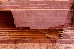 Bakgrundstextur av röd sandsten Arkivbilder