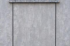 Bakgrundstextur av två parallella grå färgbräden Royaltyfria Bilder