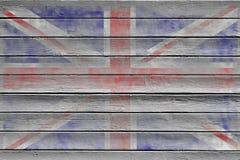 Bakgrundstextur för facklig flagga Arkivfoton