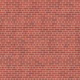 Bakgrundstextur med väggen för röd tegelsten Arkivfoto