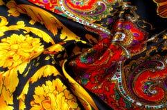Bakgrundstextur som drar Silk tyg Tyg med ljust klappar Royaltyfri Bild