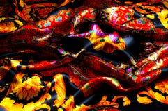 Bakgrundstextur som drar Silk tyg Tyg med ljust klappar Royaltyfri Foto