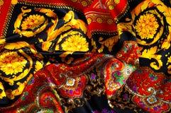 Bakgrundstextur som drar Silk tyg Tyg med ljust klappar Royaltyfria Bilder