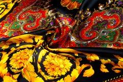 Bakgrundstextur som drar Silk tyg Tyg med ljust klappar Royaltyfri Fotografi