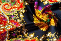 Bakgrundstextur som drar Silk tyg Tyg med ljust klappar Fotografering för Bildbyråer