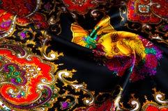 Bakgrundstextur som drar Silk tyg Tyg med ljust klappar Arkivfoto