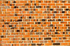 Bakgrundsväggen blockerar orange tegelsten, arkivfoto
