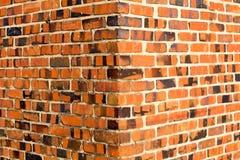 Bakgrundsväggen blockerar orange tegelsten Royaltyfria Foton